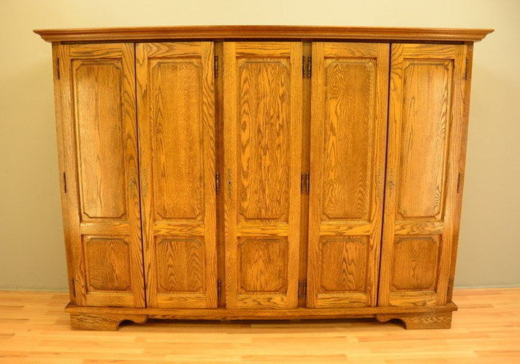 Image of: Solid Wood Armoire Wardrobe