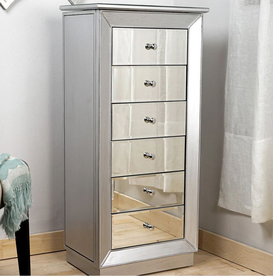 Picture of: Stainless Large Jewelry Armoire