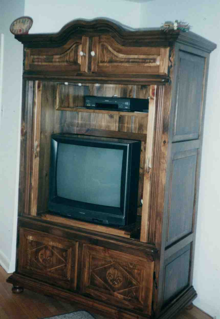 Image of: Stand TV Armoire Cabinet