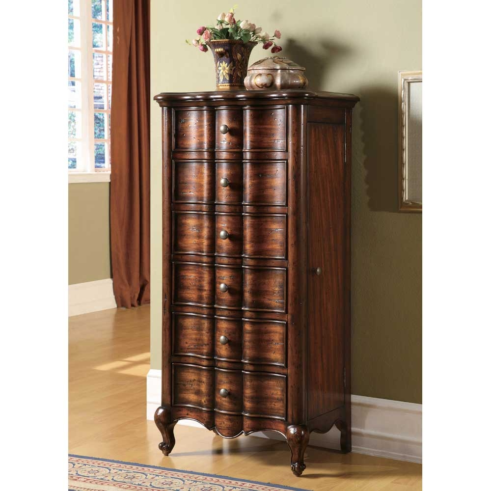 Image of: Stand Up Mirror Jewelry Armoire Furniture