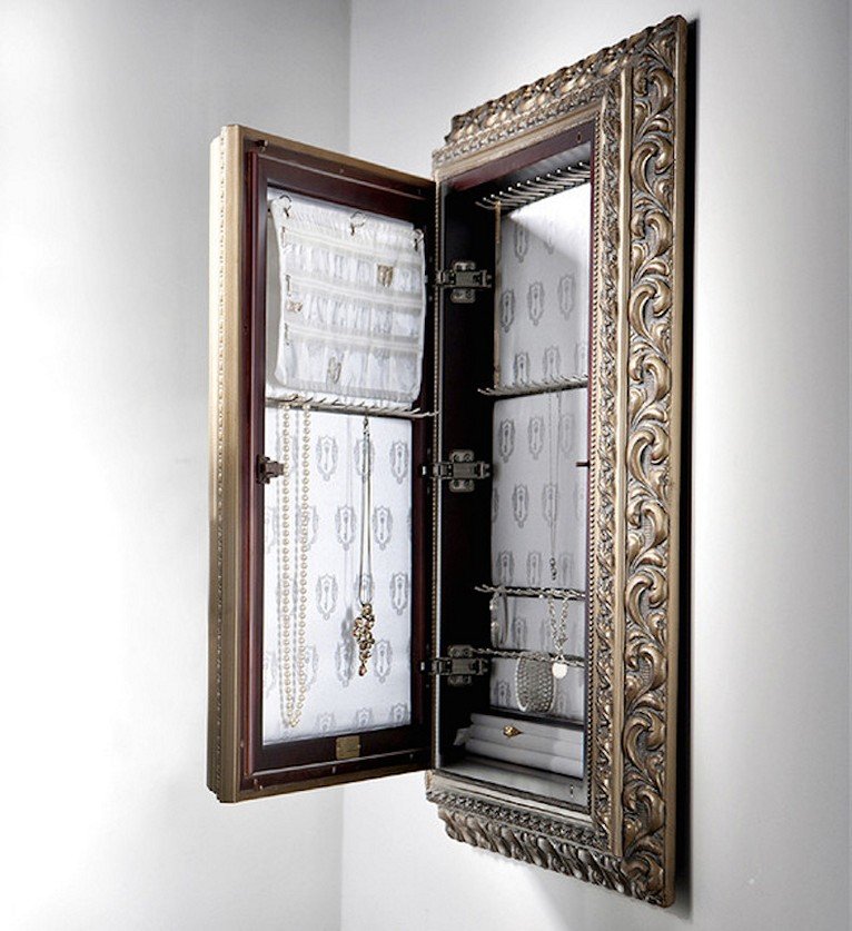 Picture of: Storage Wall Mount Jewelry Armoire