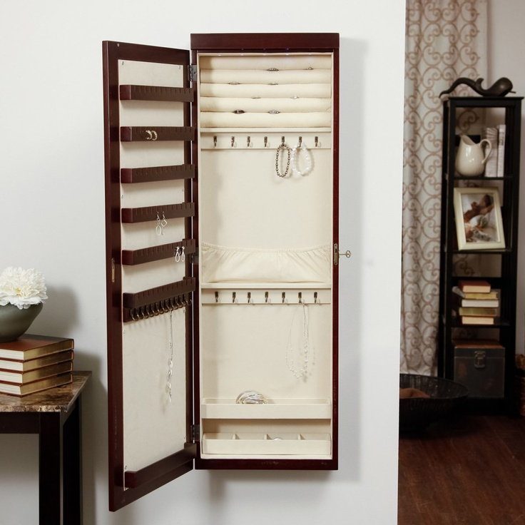 Picture of: Stylish Wall Mount Jewelry Armoire