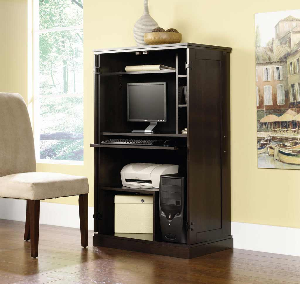 Image of: System Black Computer Armoire