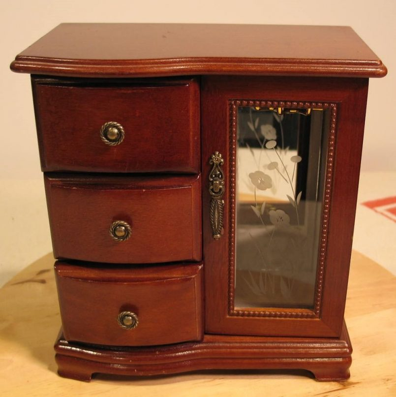 Picture of: Table Armoire Jewelry Box