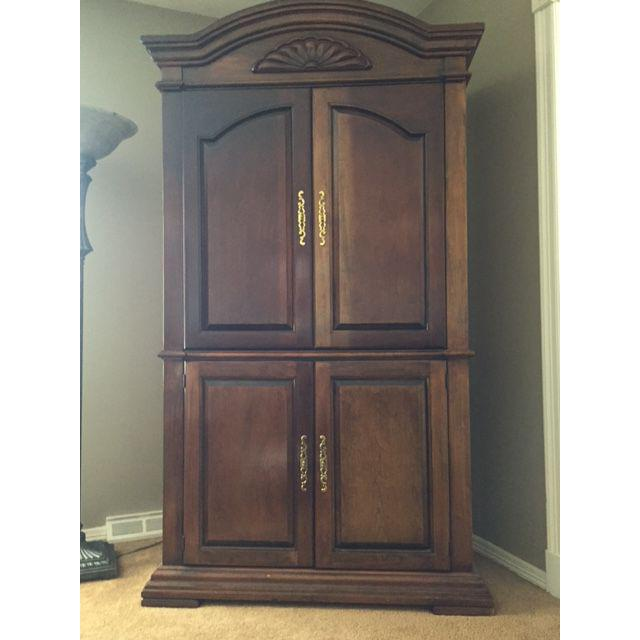 Image of: Traditional Cherry Wood Armoire