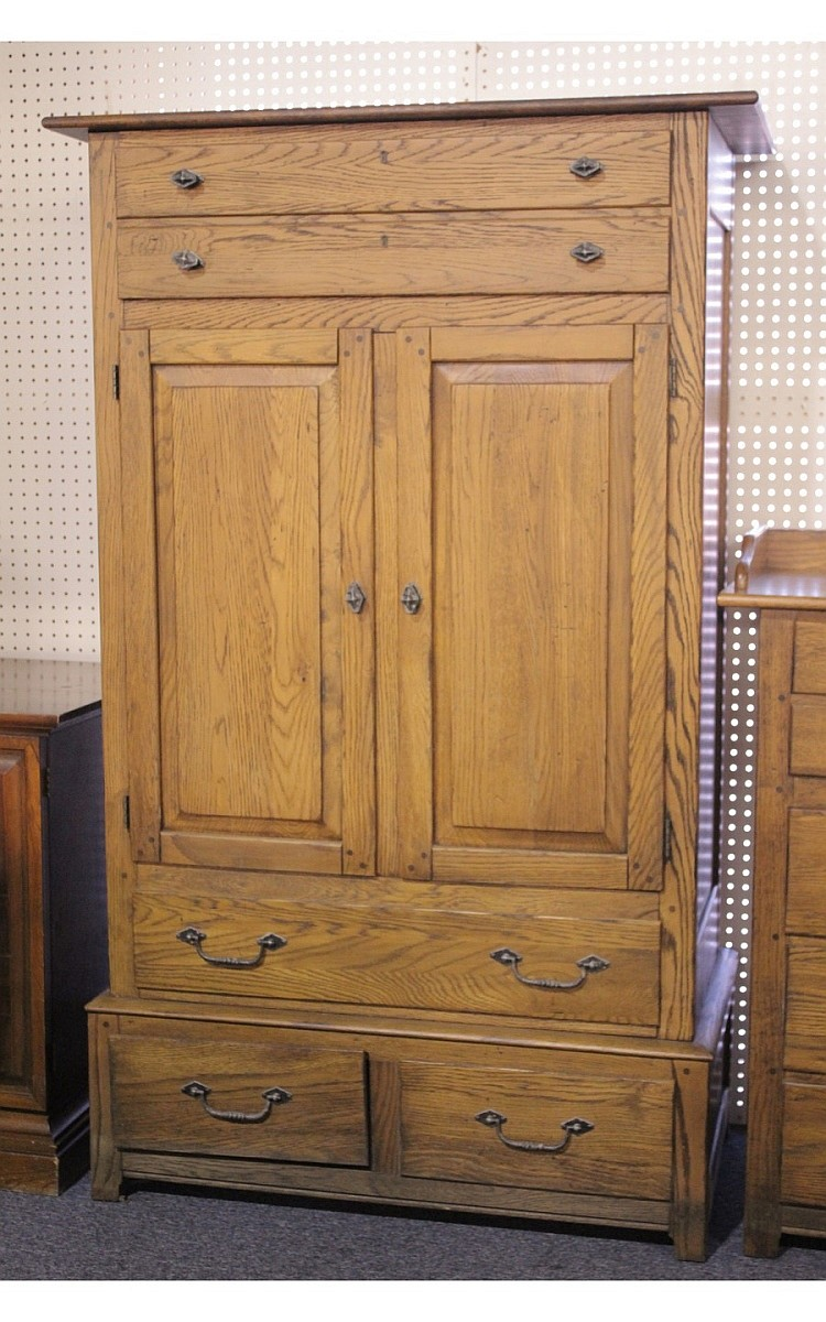 Picture of: Traditional Dresser Armoire Combo