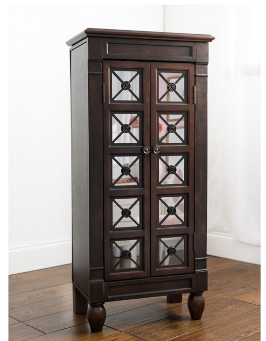Traditional Tall Jewelry Armoire