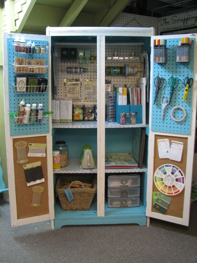 Image of: Turned Craft Cabinet Armoire