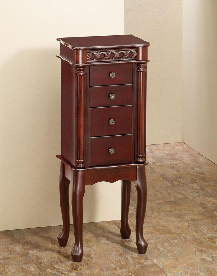 Image of: Unique Cherry Jewelry Armoire