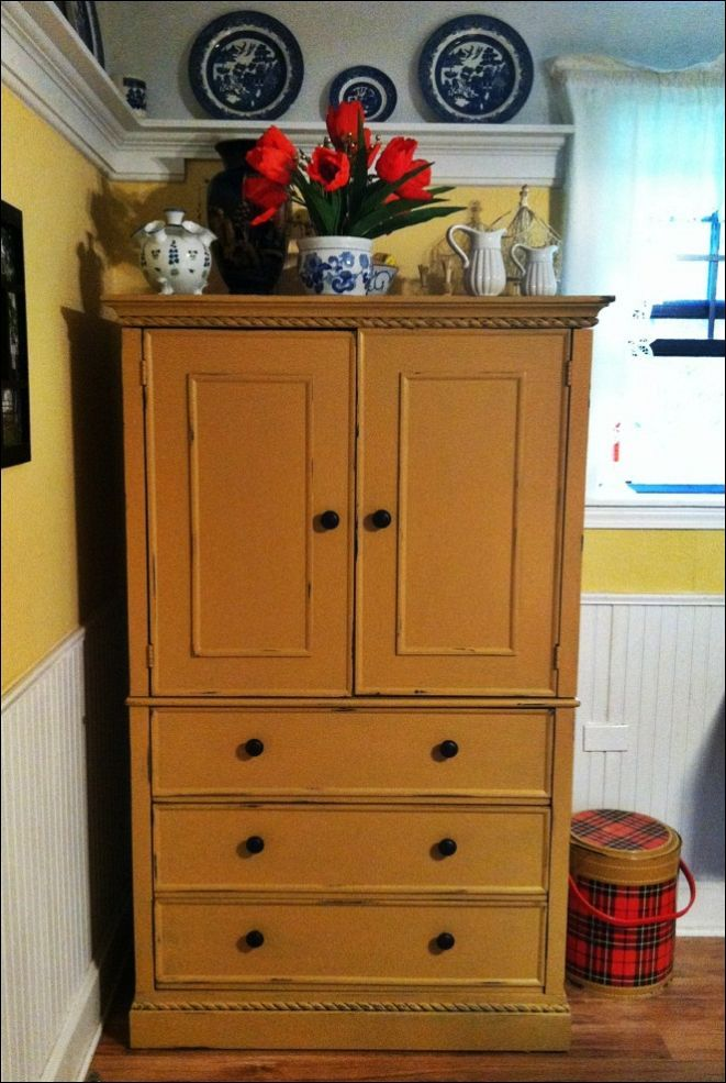 Image of: Unique Sewing Armoire