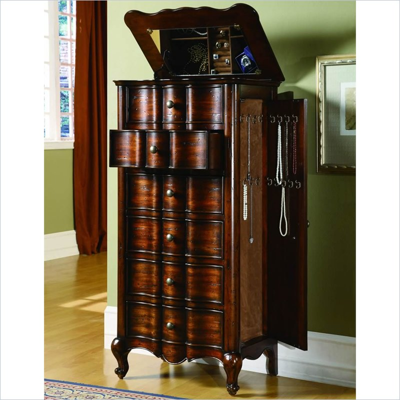 Image of: Unique Tall Jewelry Armoire