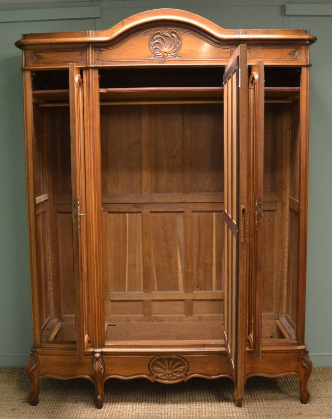 Picture of: Vintage Antique Armoire Wardrobe