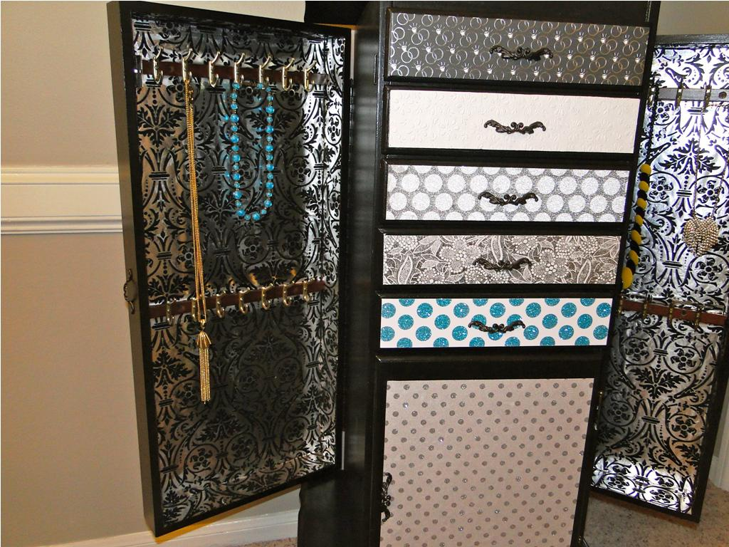 Picture of: Vintage Large Jewelry Armoire