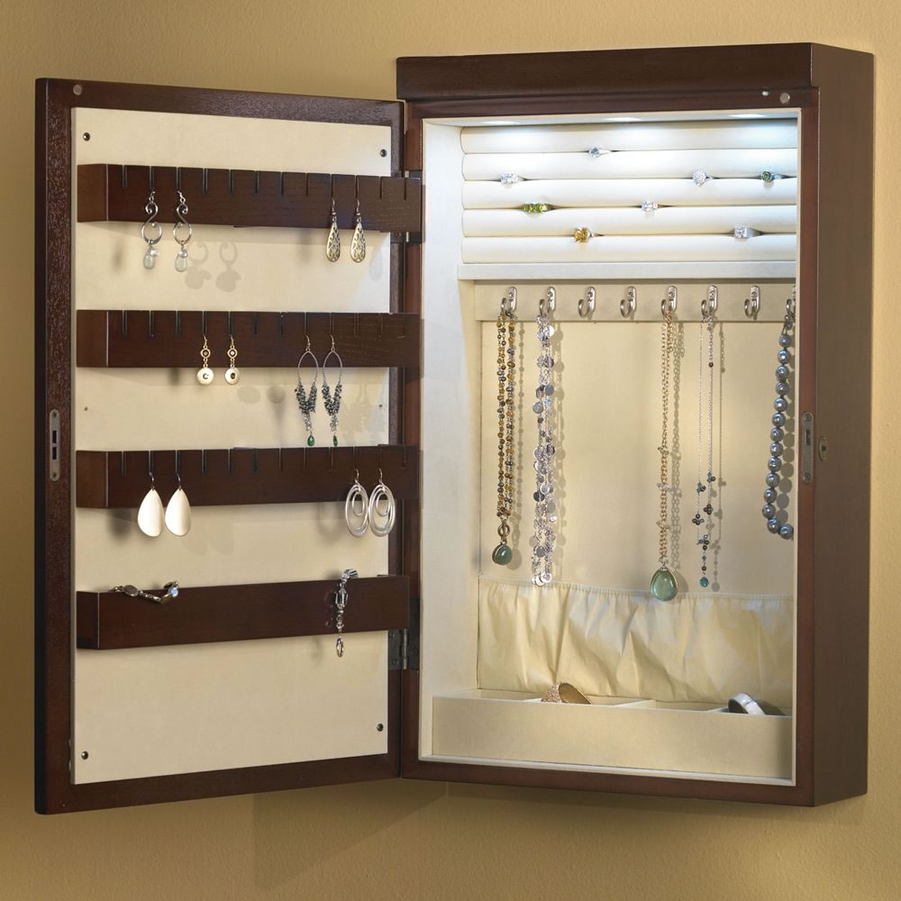 Image of: Wall Jewelry Cabinet Armoire