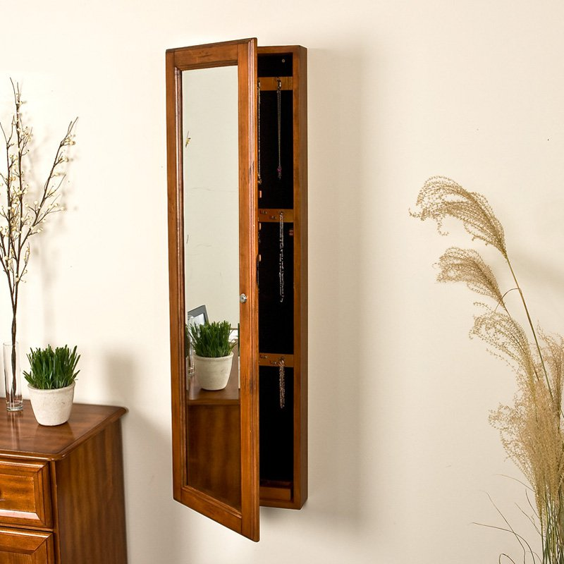 Wall Mirror Jewelry Armoire