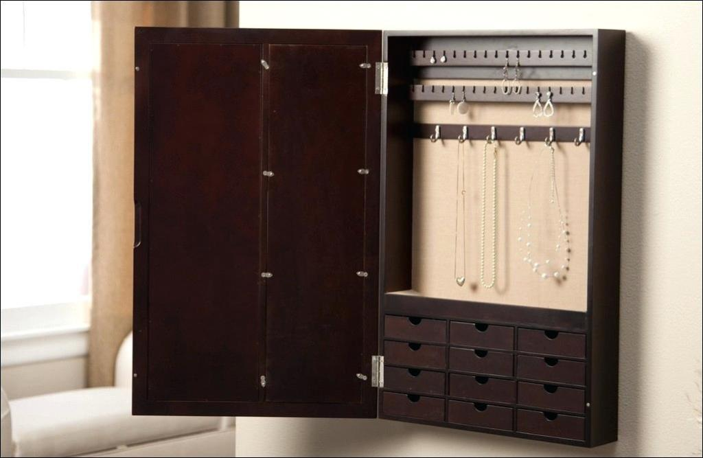 Picture of: Wall Mount Jewelry Armoire Clearance