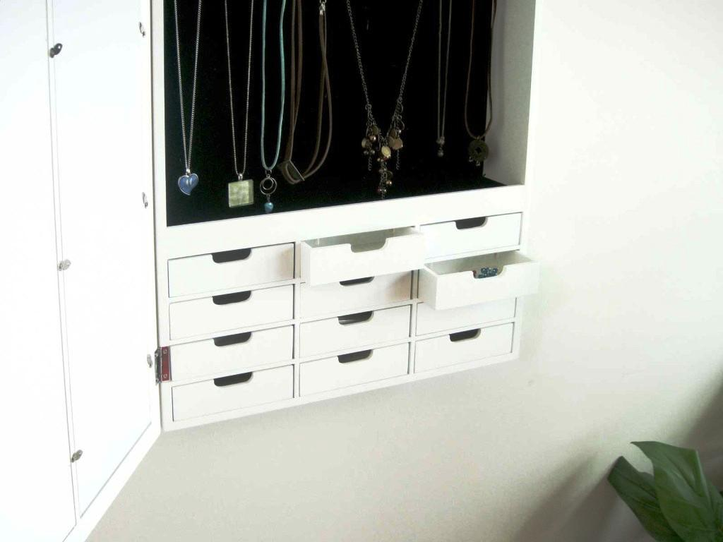 Picture of: Wall Mount Jewelry Armoire Mirror