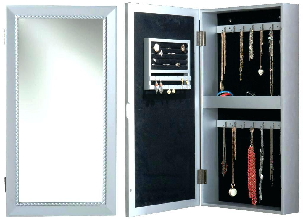 Wall Mount Jewelry Armoire With Lock