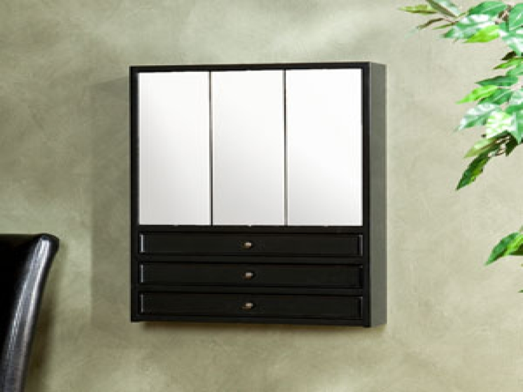 Wall Mount Jewelry Armoire With Mirror