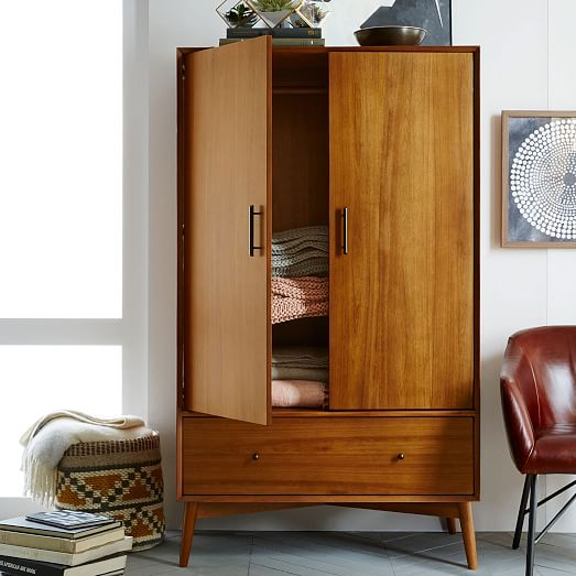 Picture of: Wardrobe Mid Century Armoire