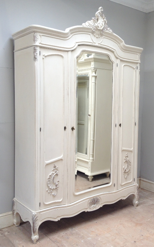 Image of: White Antique French Armoire