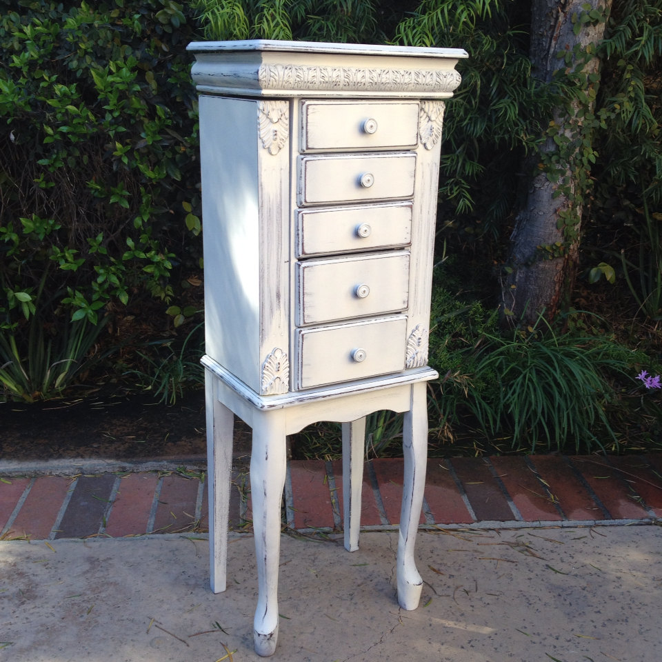 White Armoire Jewelry Box