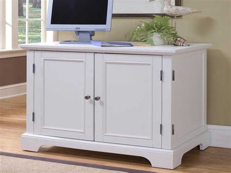 Picture of: White Corner Armoire Computer Desk