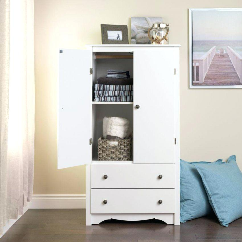 Image of: White Distressed Armoire