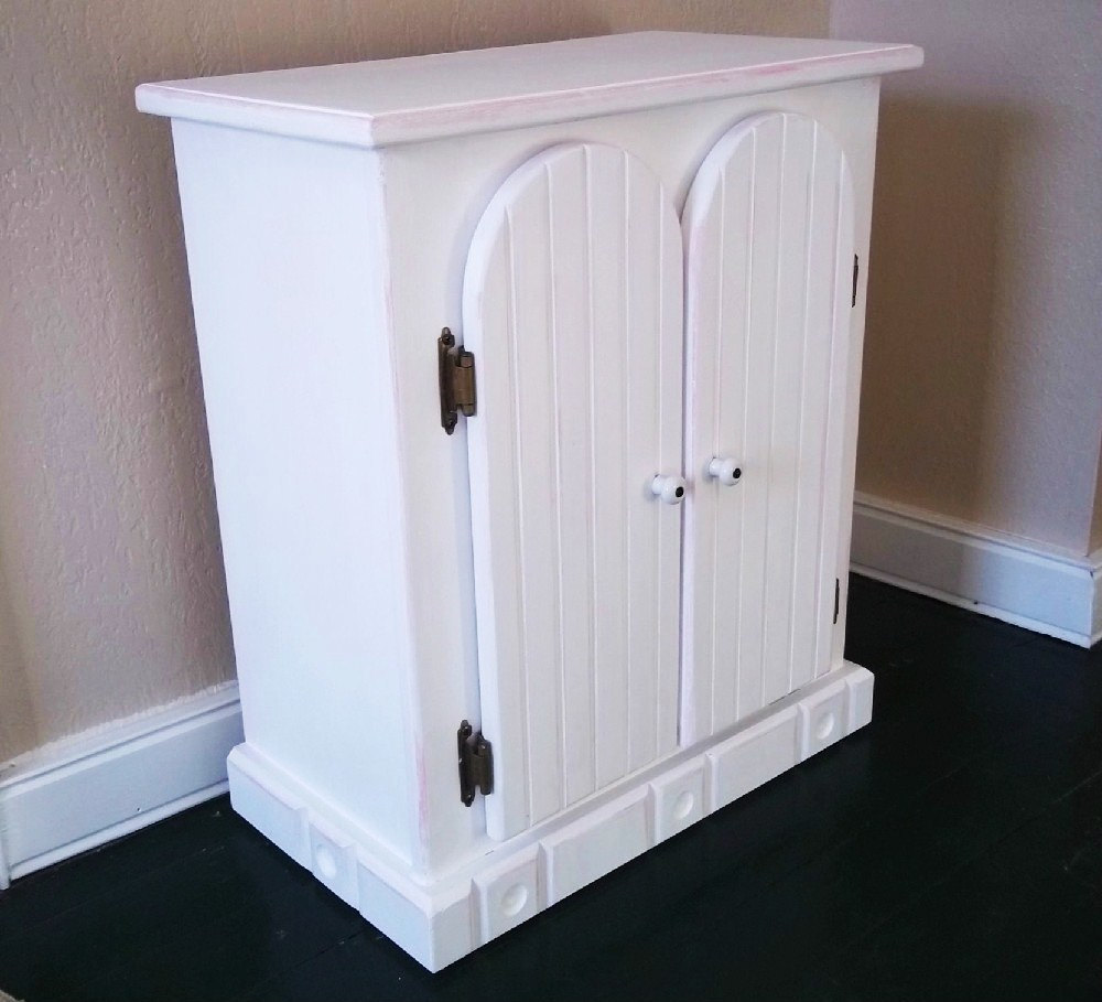 Image of: White Doll Armoire
