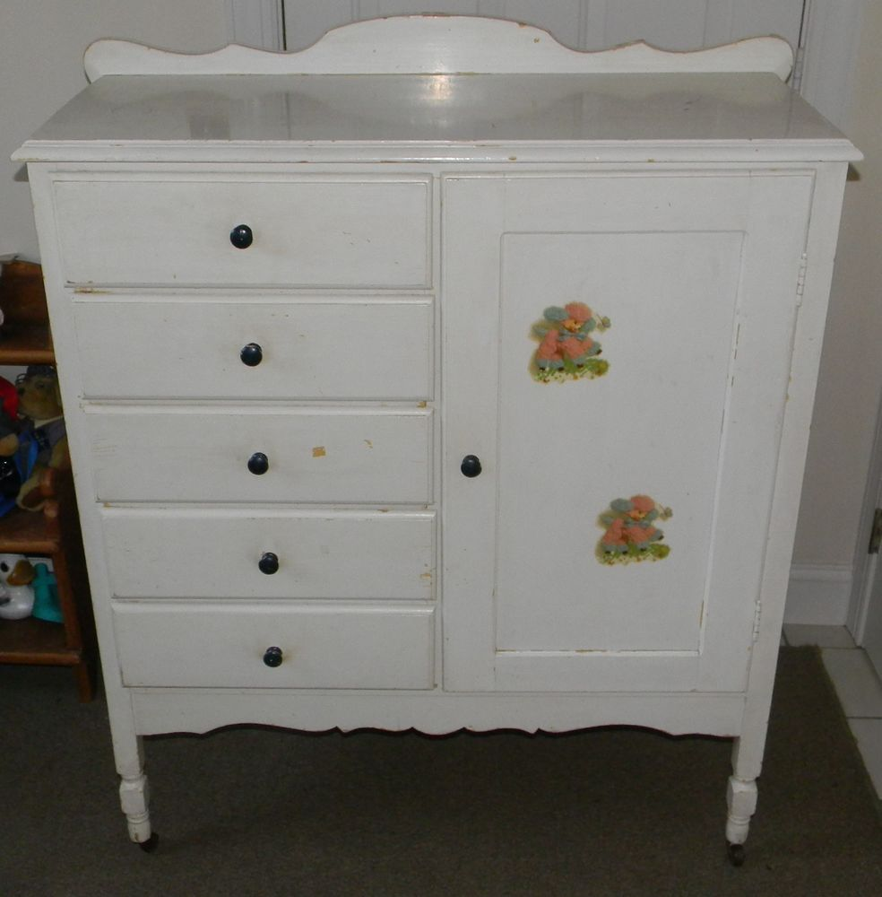 Picture of: White Dresser Armoire Combo