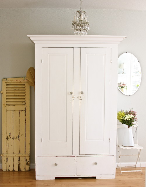 White Entryway Armoire