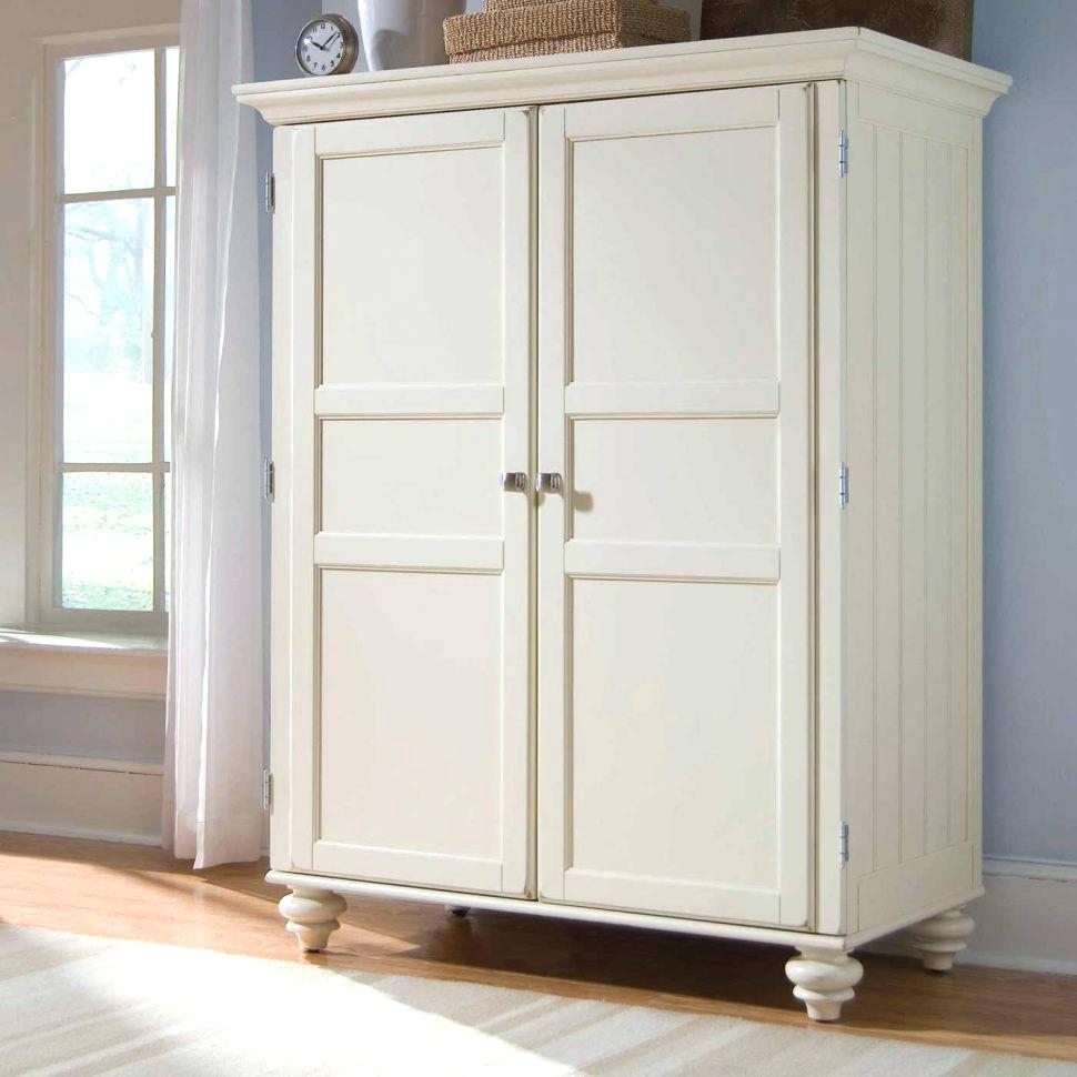 Image of: White Large Jewelry Armoire