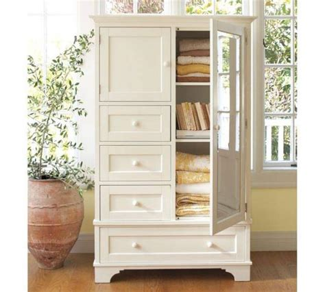 Image of: White Linen Armoire