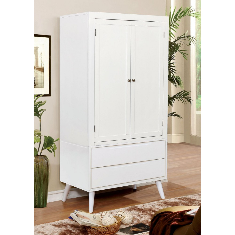 Picture of: White Mid Century Armoire