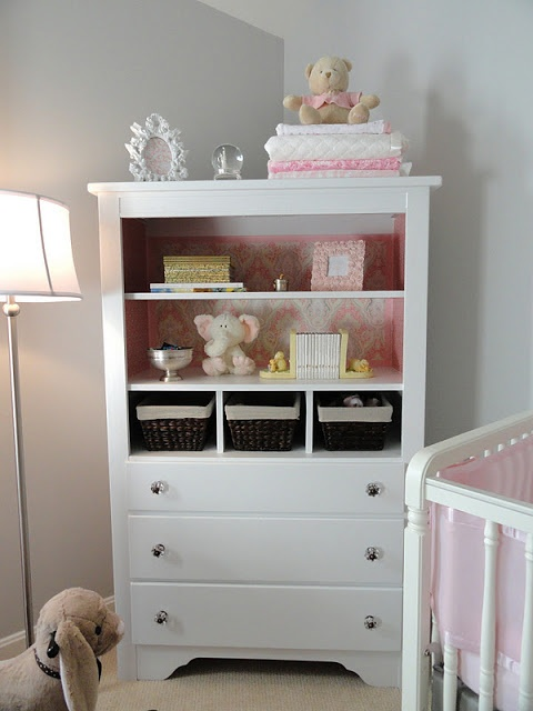 Picture of: White Nursery Armoire