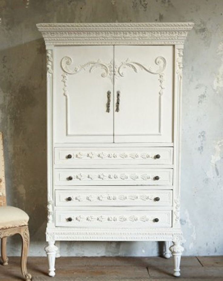 Image of: White Shabby Chic Armoire