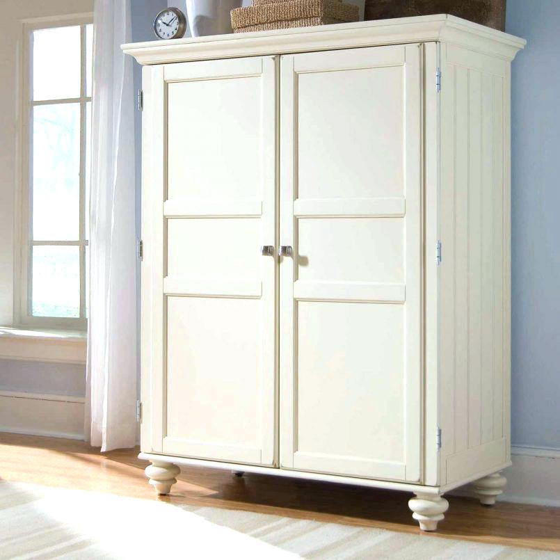 Image of: White Small Armoire