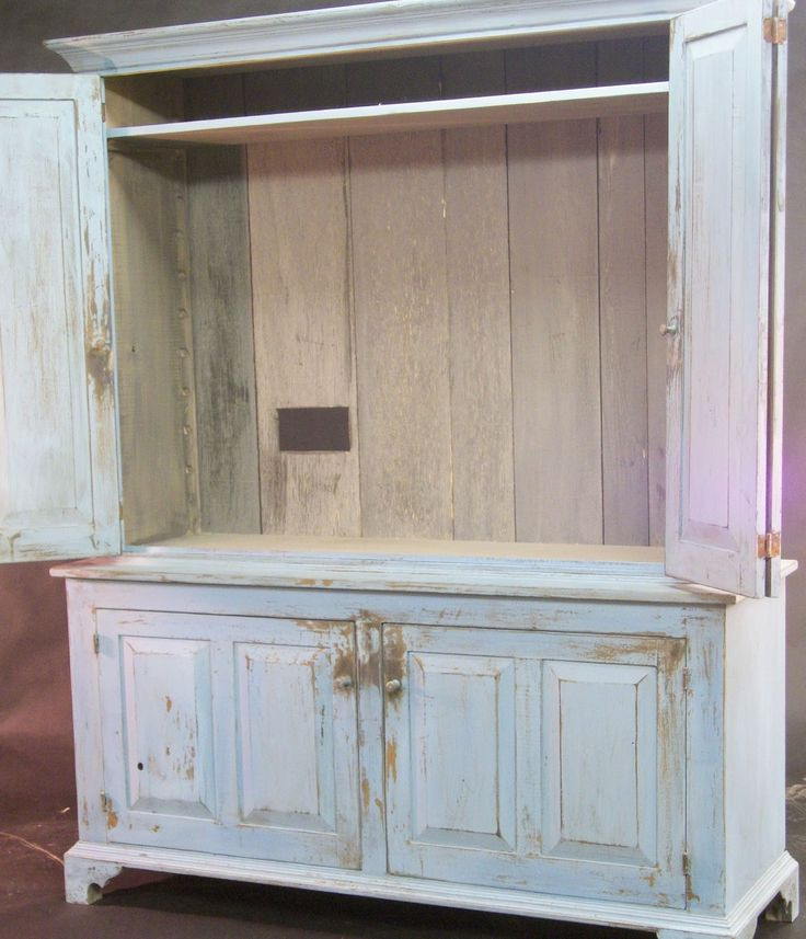 Image of: White TV Armoire Cabinet