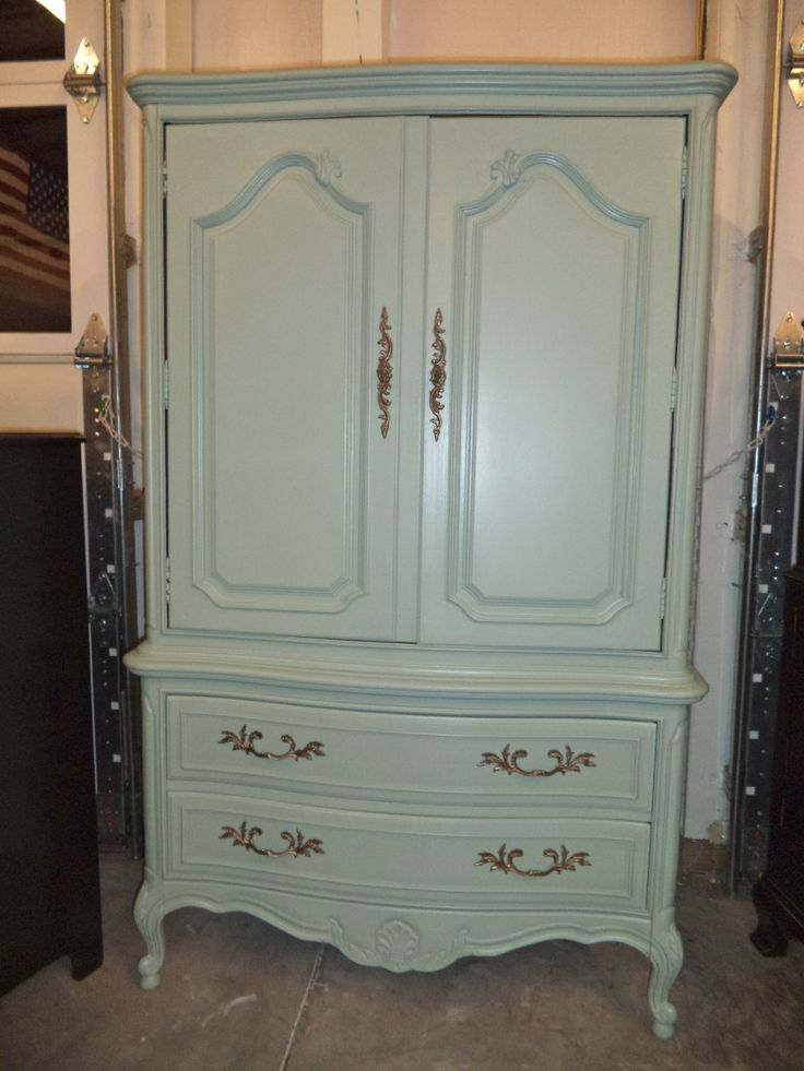 Image of: White Thomasville Armoire