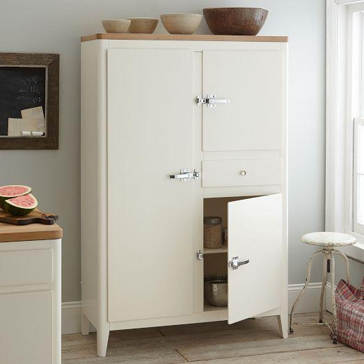 Image of: White West Elm Armoire