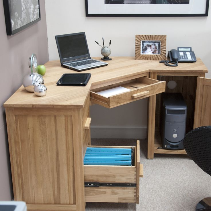 Image of: Wood Corner Armoire Desk