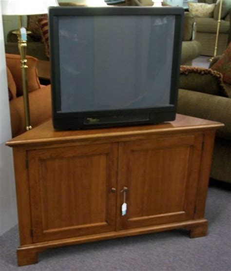 Wood Corner TV Armoire