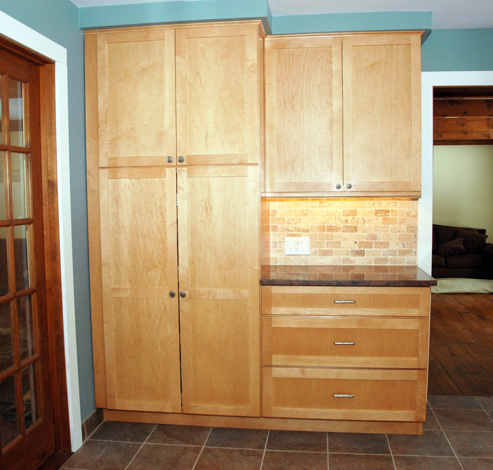 Picture of: Wood Kitchen Pantry Armoire