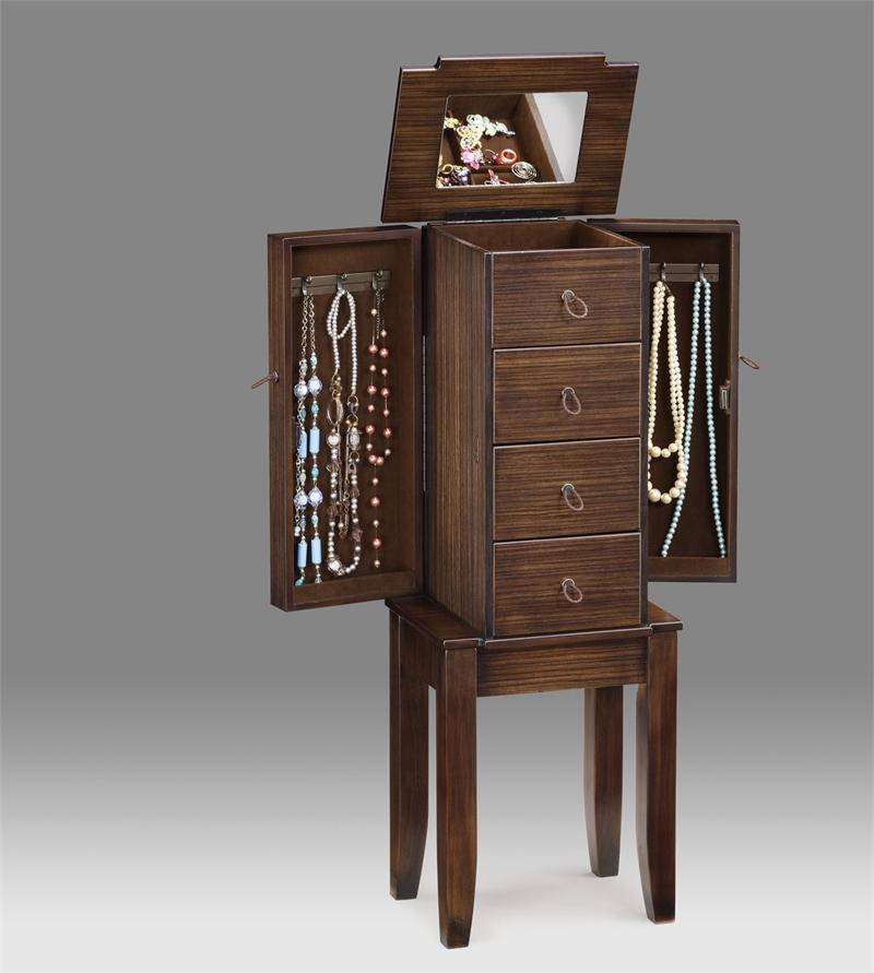 Picture of: Wood Large Jewelry Armoire