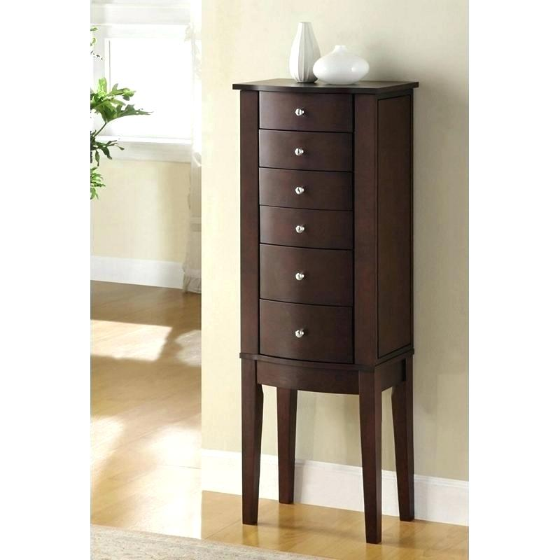 Wood Modern Jewelry Armoire