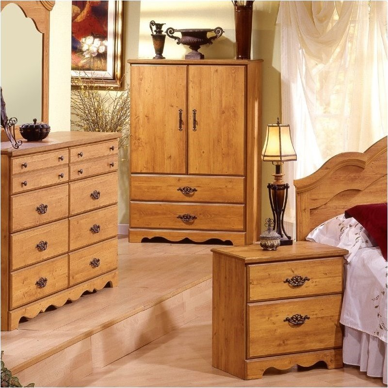 Image of: Wood Pine Armoire