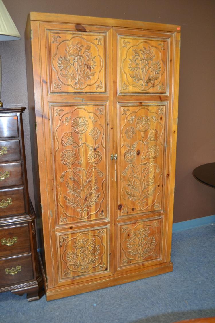 Picture of: Wooden Henredon Armoire