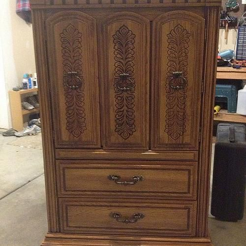 Wooden Nursery Armoire
