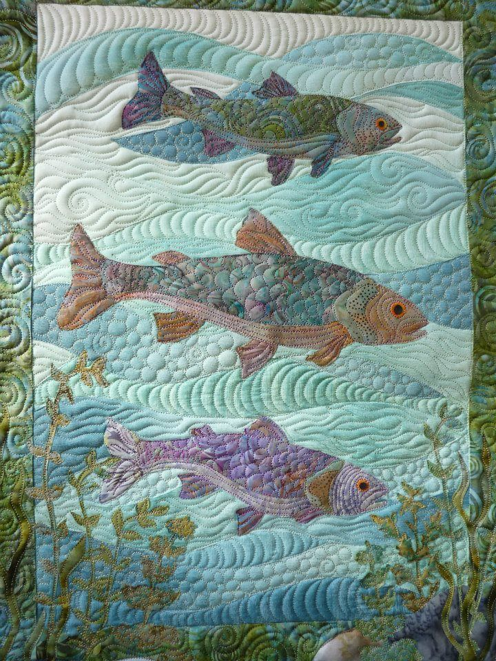 Picture of: Amazing Fish Quilt Pattern