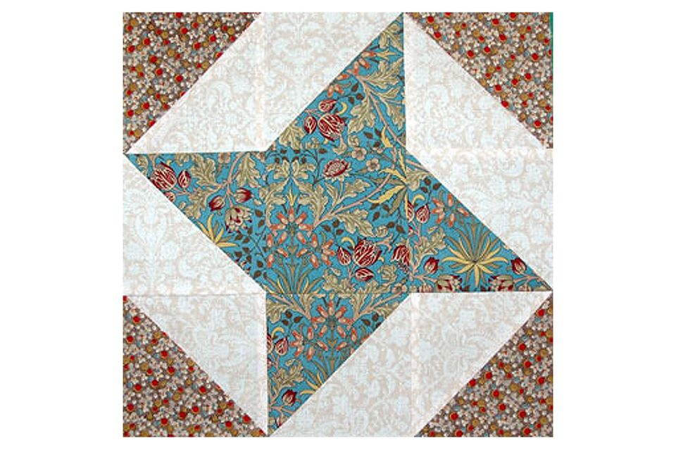 Image of: Amish Star Quilt Pattern